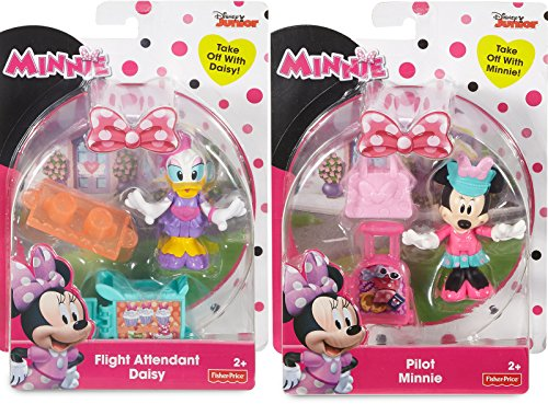 Minnie Mouse & Daisy Duck Figures Flight Attendant Daisy Action - Minnie's Happy Helpers / Pilot Minnie