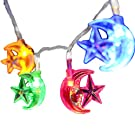 INST 20 Islamic EID Ramadan 2m/20 LED Stars and Moons Festival LED String Light Decoration, Multi Color