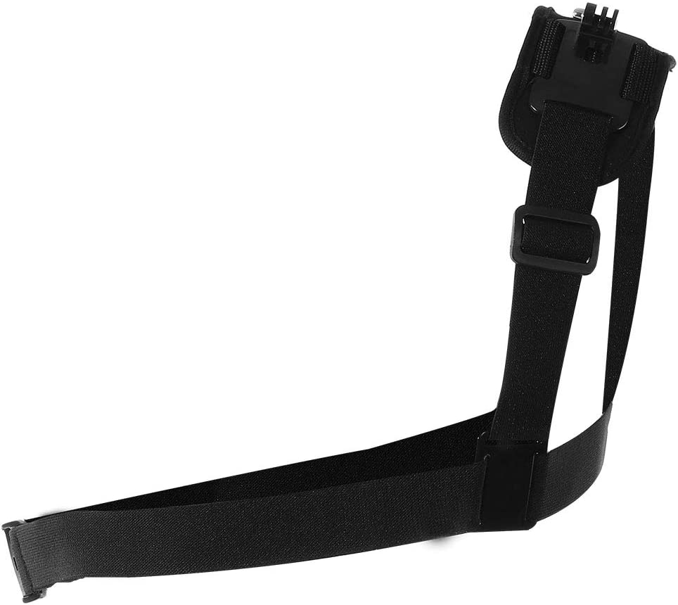 Black Adjustable Camera Shoulder Chest Strap Nylon Plastic Shoulder Strap Mount for Action Camera Mugast Single Shoulder Chest Strap Mount