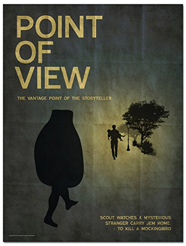 Point of View: Elements of a Novel Mini Poster. Eco-Friendly, English Literature Art Print. Features To Kill a Mockingbird.