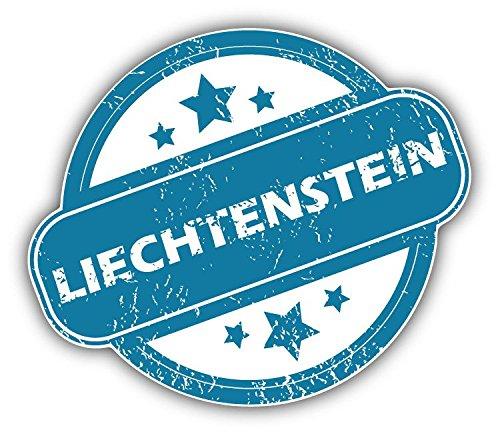 Liechtenstein Grunge Stamp Vinyl Decal Bumper Sticker 5'' X 4''