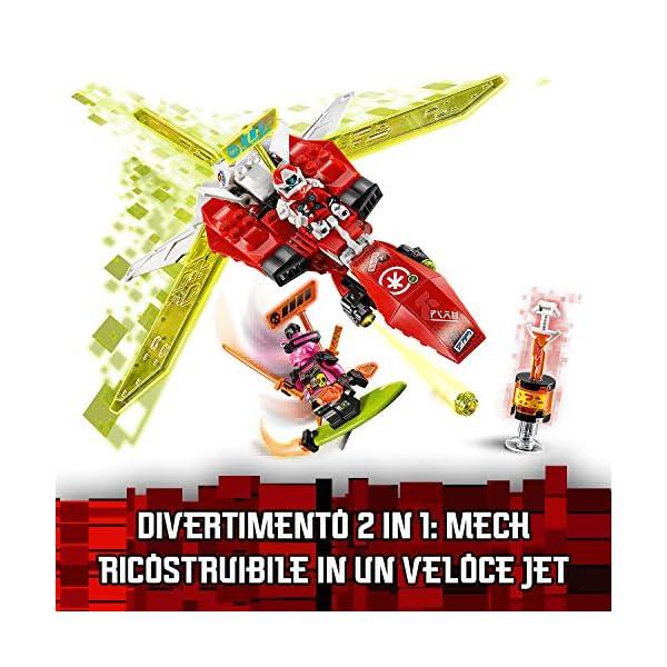 LEGO Ninjago Mech-Jet di Kai 2 In1 Set di Costruzioni Ricco di Dettagli con Digi Lame In 1 Jet, Spara con i Tuoi Shooter… 5 spesavip