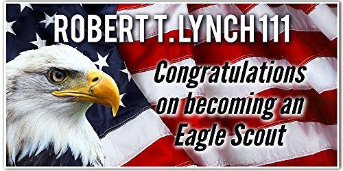Congratulations Eagle Scout - American Flag and Eagle Custom Banner