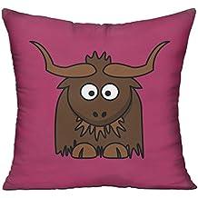 Funny Cartoon Cute Yak Clipart Sofa Bed Home Decor Throw Pillow Cover Hug Plush Pillow