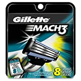 Gillette Mach3 Men's Razor Blade Refills, 8 Count, Mens Razors /...