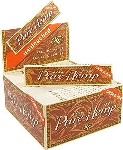 50 Pure Hemp Unbleached Brown King Size Natural Gum Cigarette Rolling Papers Packs (33 Leaves/Pack) + Beamer Smoke Sticker. 4 Legal Smoking Herbs, Rolling Tobacco, Herbal Mixes, Rollers, Injector, Ryo