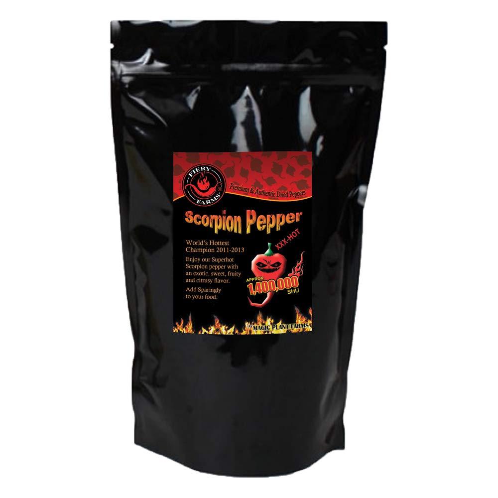 Dry Trinidad Scorpion Butch T powder   Grounded Trinidad Scorpion Peppers (8oz)