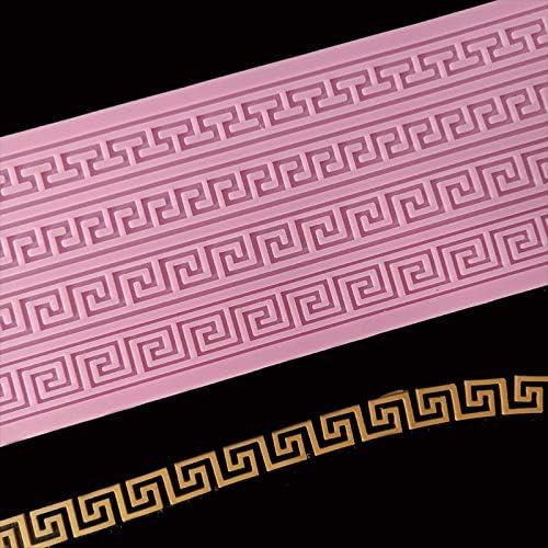 Muffa del/merletto della torta della/striscia della muffa del silicone del pizzo della///torta Strumento della decorazione del bordo della torta///Stampo per goffratura del mestiere dello zucchero