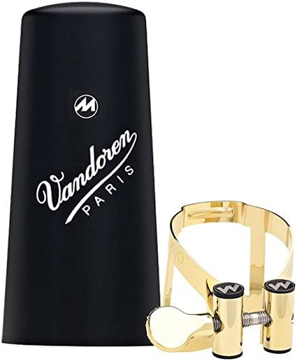 Bb Clarinet Ligature Gold or Silver Plated /& Cap Vandoren M//O Masters//Optimum