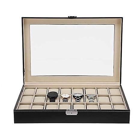 Cajas Relojes Hombre Caja de almacenamiento de la exhibición de la joyería del reloj de la ...