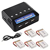 XCSOURCE 5 pcs 3.7V 800mAh Lipo Battery + Charger For Syma X5C X5A X5SC X5SW Parts RC Quadcopter BC536
