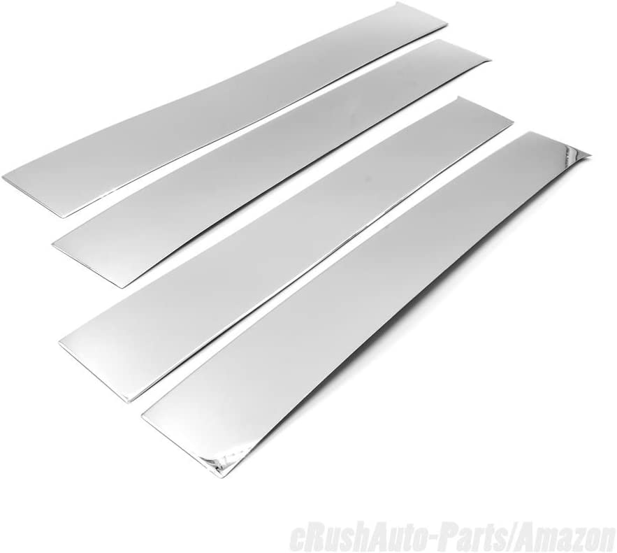 eRushAutoparts Chrome Stainless Steel Pillar Covers For 2009-2016 Dodge Ram Crew//Quad//Extended Cab 4pcs