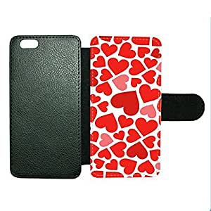 Case Fun Case Fun Love Hearts Faux Leather Wallet Case Cover for Apple iPhone 6 4.7 inch