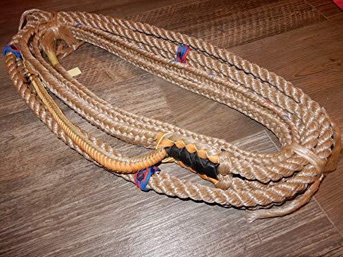 Riding Rope - EPT Bull Rope Bull Ropes - Tan/Blk - Custom PRO 9x7 LH Bull Riding Rope 16'
