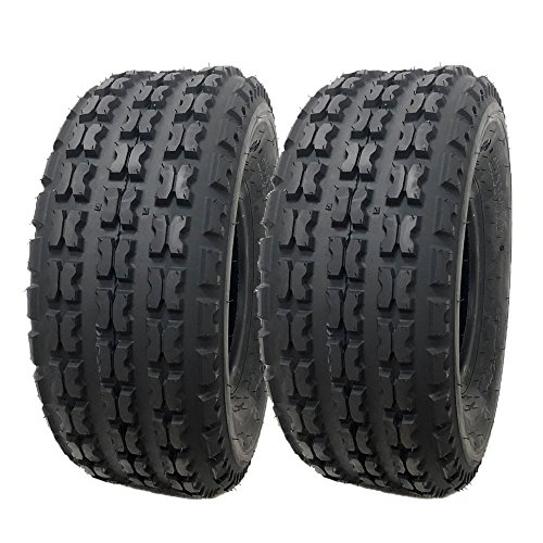 SET OF TWO: ATV Tubeless Tire 19x7-8 (175/80-8) Split-knob Tread Design for all terrains - Front Tires provide solid traction and control (P136A)