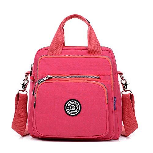 Foino Bolsos Muje Bolso Bandolera Ligero Mochilas Impermeable Modar Casual Bolsas de Viaje Bolsos Escuela para Tablet Sport Bag Rojo 1