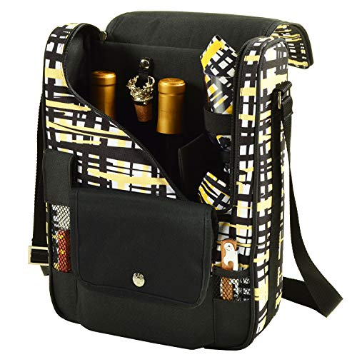 Picnic at Ascot – Wine Carrier Deluxe with Glass Wine Glasses and Accessories for Two – Paris