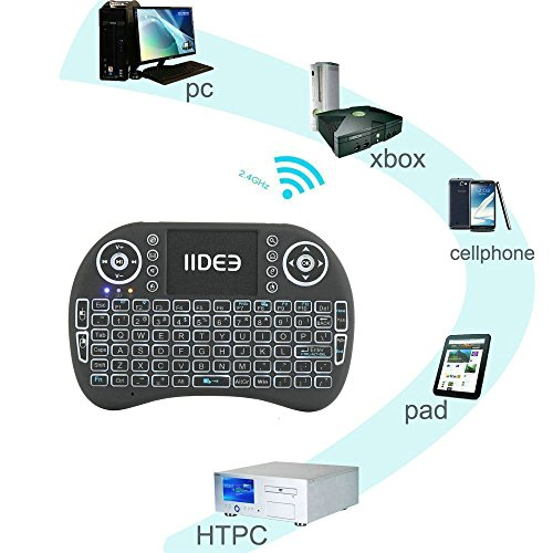Rii i8 (10038-ID) Mini 2.4GHz Wireless Touchpad Keyboard with Mouse, Black by Rii (Image #7)