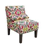 Skyline Furniture Armless Chair in Santa Maria Desert Flower