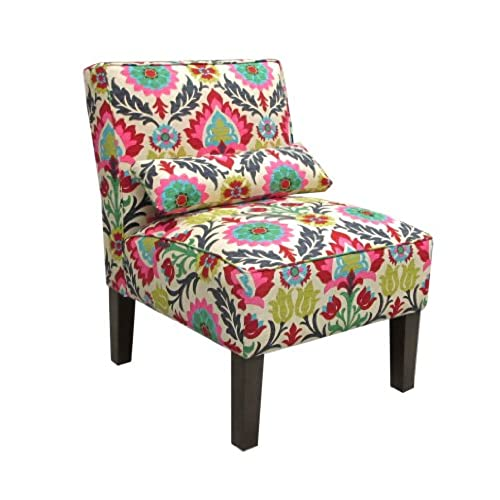 skyline furniture armless chair in santa maria desert flower - Printed Accent Chairs