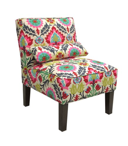 Skyline Furniture Armless Chair in Santa Maria Desert Flower - Skyline Upholstered Chair