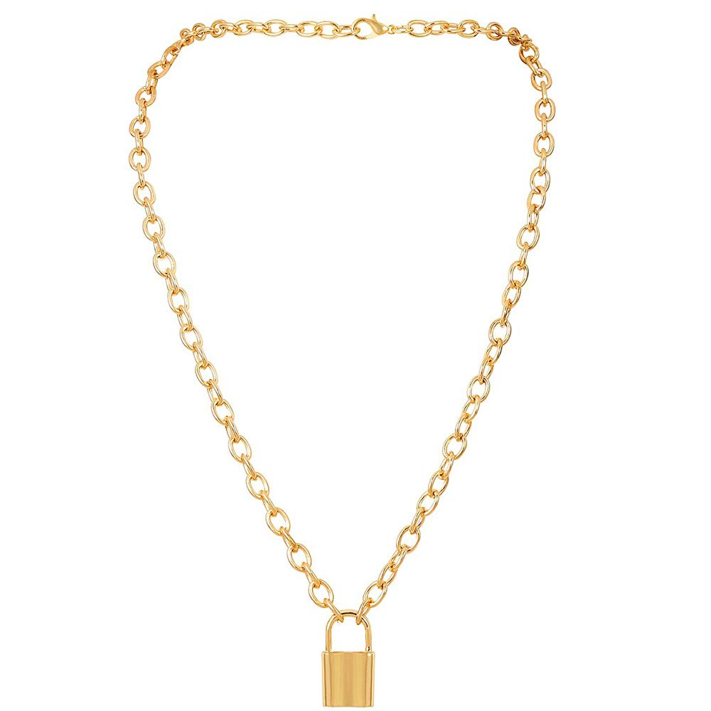 9e91be60256 Aegenacess Y Necklace Lock Pendant Simple Cute Necklaces Long Multilayer  Chain Fashion Jewelry Women Girls Gift for Her