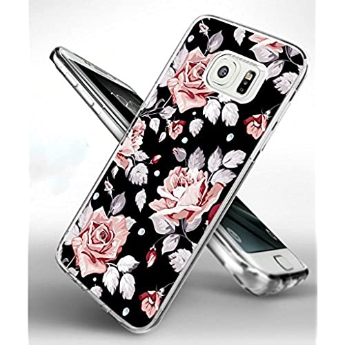 Samsung S7 Edge Case,Samsung Galaxy S7 Edge Slim TPU Soft Full Protective Case Colorful Floral Design Sales