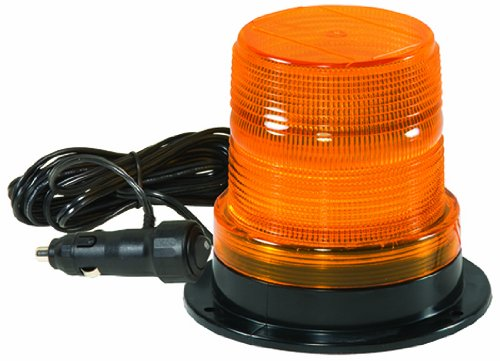 Checkers SL.208.MA.A Polycarbonate Micro Strobe Lights with Magnetic Base and Power Cord, Amber Lens, 4.6'' Height, 5.125'' Width