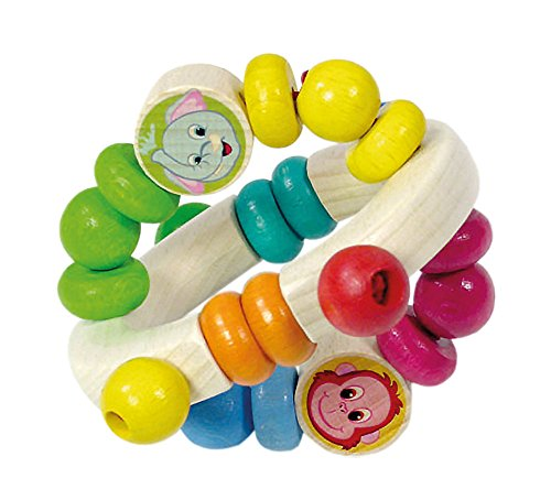 Hess Wooden Toy 11100Rattle Jungle 8X 9Cm
