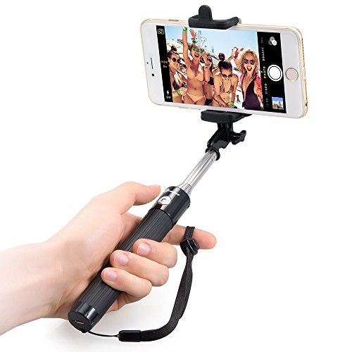 Selfie Stick, TaoTronics Extendable Self-portrait Wireless Bluetooth Remote Shutter Stick Monopod for iPhone 6, iPhone 6 Plus, iPhone 5 5s 5c, Android