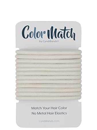Amazon.com   White Platinum Blonde Color Match No-Metal Elastics Hair Ties  - 12 Count   Beauty 6c78cd14c72