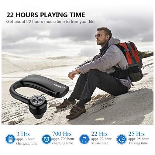 Cuffie Bluetooth Senza Fili,25 ORE Auricolari Wireless Sport con Microfono HD,v4.2,Ruotabile 360?,Supporto Orecchio Sinistro/Destro,Collegare Due Dispositivi,per Sport/Lavoro/Guida