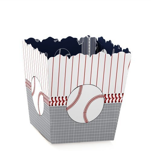 (Batter Up - Baseball - Party Mini Favor Boxes - Baby Shower or Birthday Party Treat Candy Boxes - Set of)