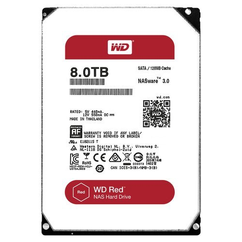 Disk Drive - 5400 RPM Class SATA 6 Gb/s 128MB Cache 3.5 Inch - WD80EFZX ()