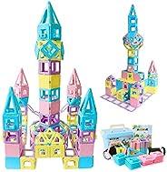 MAGBLOCK Magnetic Building Blocks STEM Educational Toys Tiles Set for Boys & Girls Magnet Stacking Block S