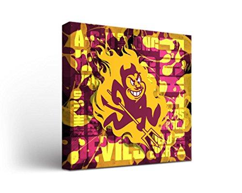 Arizona State Asu Sun Devils Canvas Wall Art Fight Song Design
