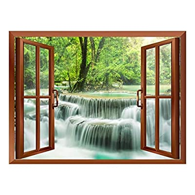 Wall26 - Waterfall in Thailand Removable Wall Sticker/Wall Mural - 36