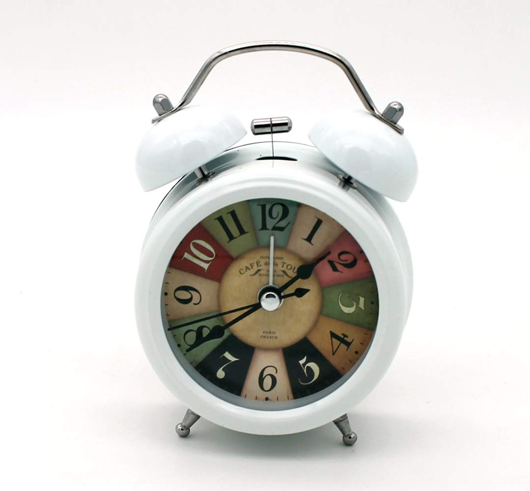 Battery Operated Loud Alarm Clock Zeng Twin Bell Alarm Clock with Stereoscopic Dial Backlight