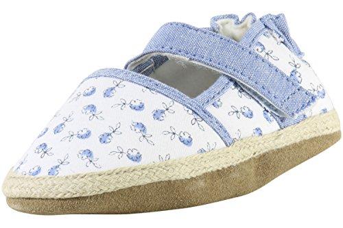 Sunshine Poppies - Robeez Kids' Sunshine Espadrille - K Sandal, Poppies White, 18-24 Months M US Infant