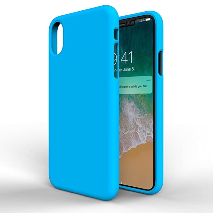 MTT Back Cover for Apple iPhone X  Blue  Mobile Accessories