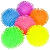(1) 9 Inch Large Jumbo Puffer Ball Stress Ball for Kids Tactile Fidget Toy