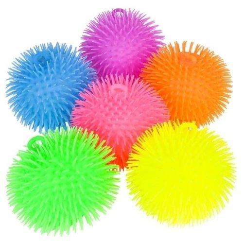 51Hi SgoKGL - (1) 9 Inch Large Jumbo Puffer Ball Stress Ball for Kids Tactile Fidget Toy