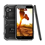 E&L Proofings W9 IP68 Waterproof Dustproof Rugged Phone 4G LTE Smartphone 6.0 inch Android Outdoor Unlocked AT&T And T-Mobile Version (Gray)