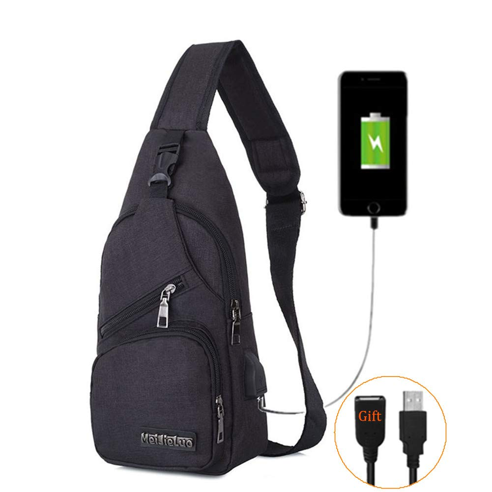BARHOMO Sling Bag with USB Charging Port Backpacks Bags
