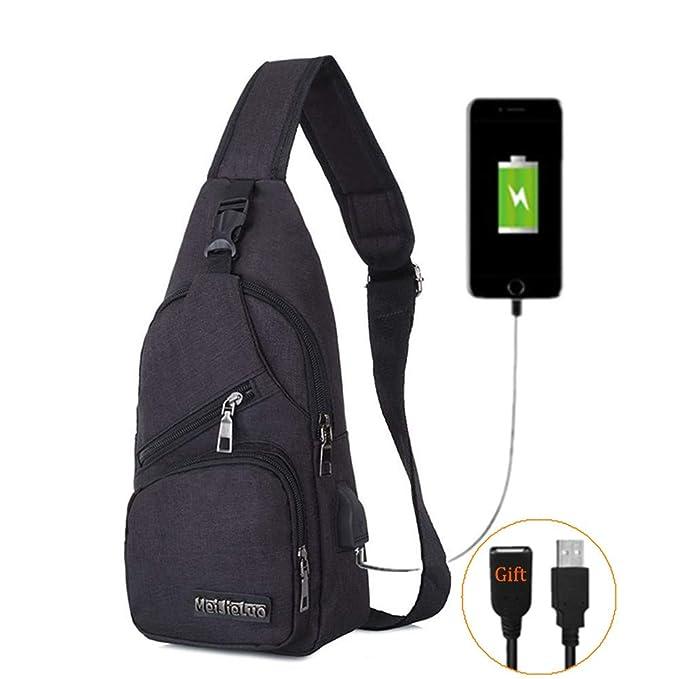 Amazon.com: BARHOMO - Mochila con puerto de carga USB, bolsa ...