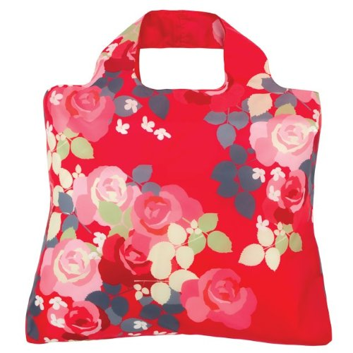 Envirosax Bloom Shopper,Raspberry Rose,one size Envirosax Red Bag
