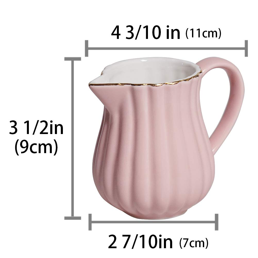 Hetoco Zuccheriera Rosa Ceramica Zuccheriera con Coperchio e Cucchiaio per Casa e Cucina 8.5 oz cream-and-sugar-sets bianco