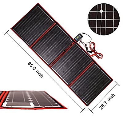 Dokio 200 Watts 12 Volts Monocrystalline foldable Solar Panel with solar Charger Controller