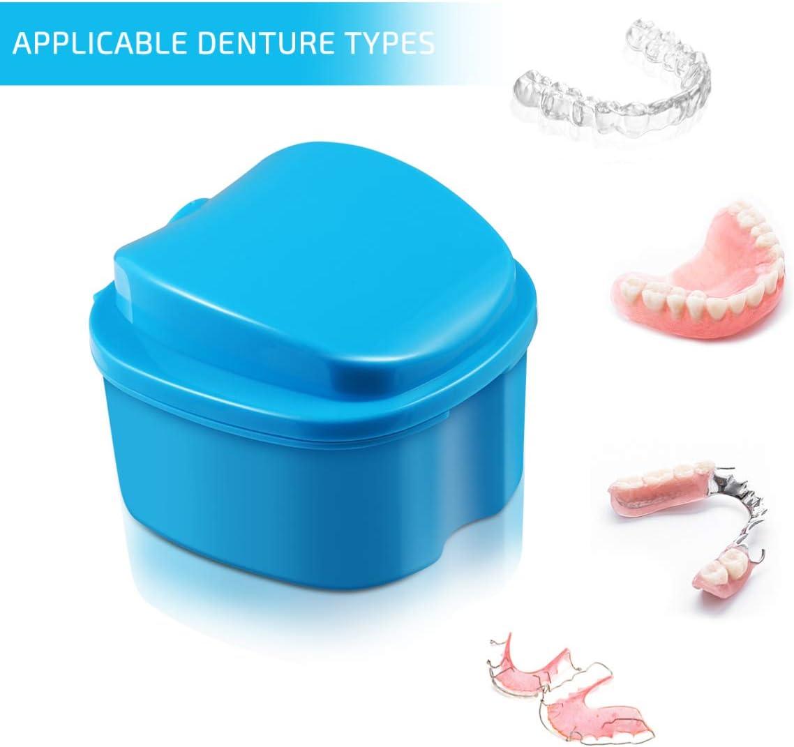 SUPVOX - Caja de dientes para prótesis dental, protección de dientes falsos con filtro azul cielo, color azul: Amazon.es: Salud y cuidado personal