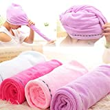 BEESCLOVER New 5824CM(Microfiber Towel Drying Turban Wrap Towels Hat Cap Hair Dry Quick Dryer Bath Salon Towel W3 Blue
